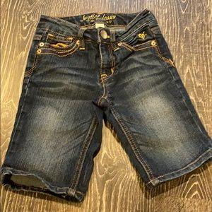 Long jean shorts.  8S